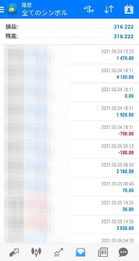 FX自動売買システム ゴリラEA 2021年5月実績